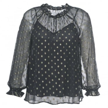Velvet Jorie Dot Top