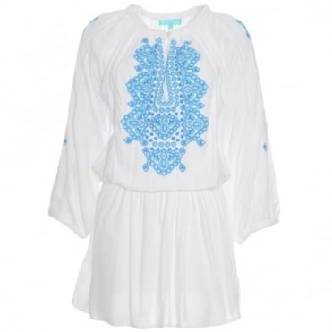 Melissa Odabash Nadja Embroidered Dress