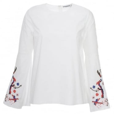 Essentiel Antwerp Paradise Embroidered Top