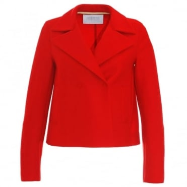 Harris Wharf London Double Breasted Cropped Coat