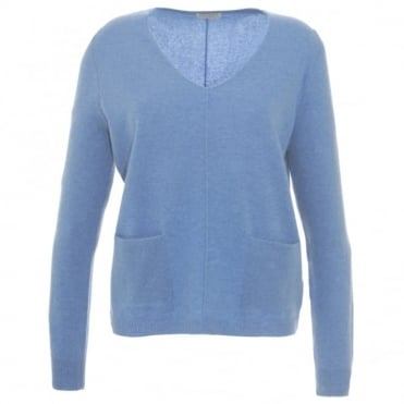Repeat Blue Pocket Sweater