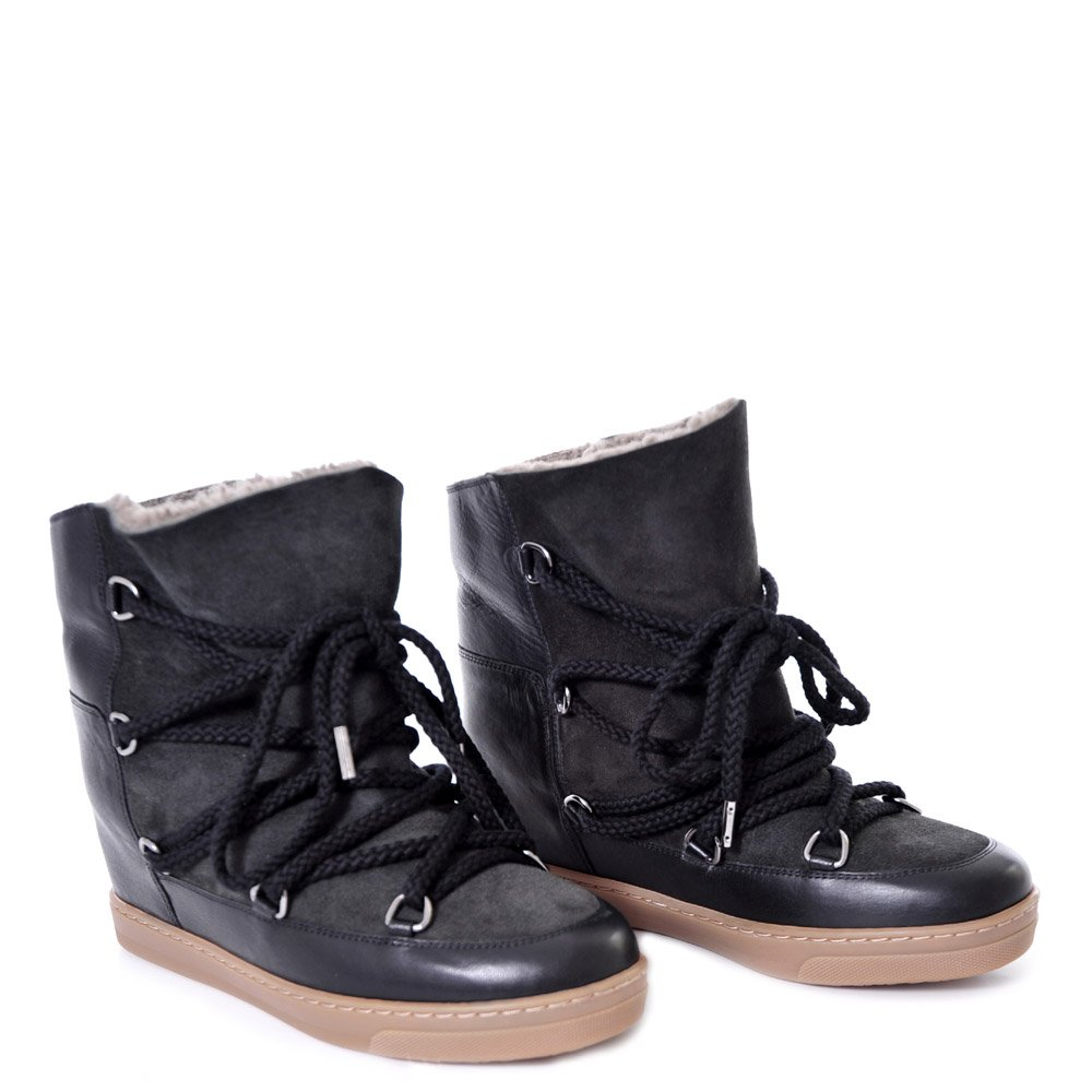 isabel marant nowles shearling boot high tops ankle boots online. Black Bedroom Furniture Sets. Home Design Ideas