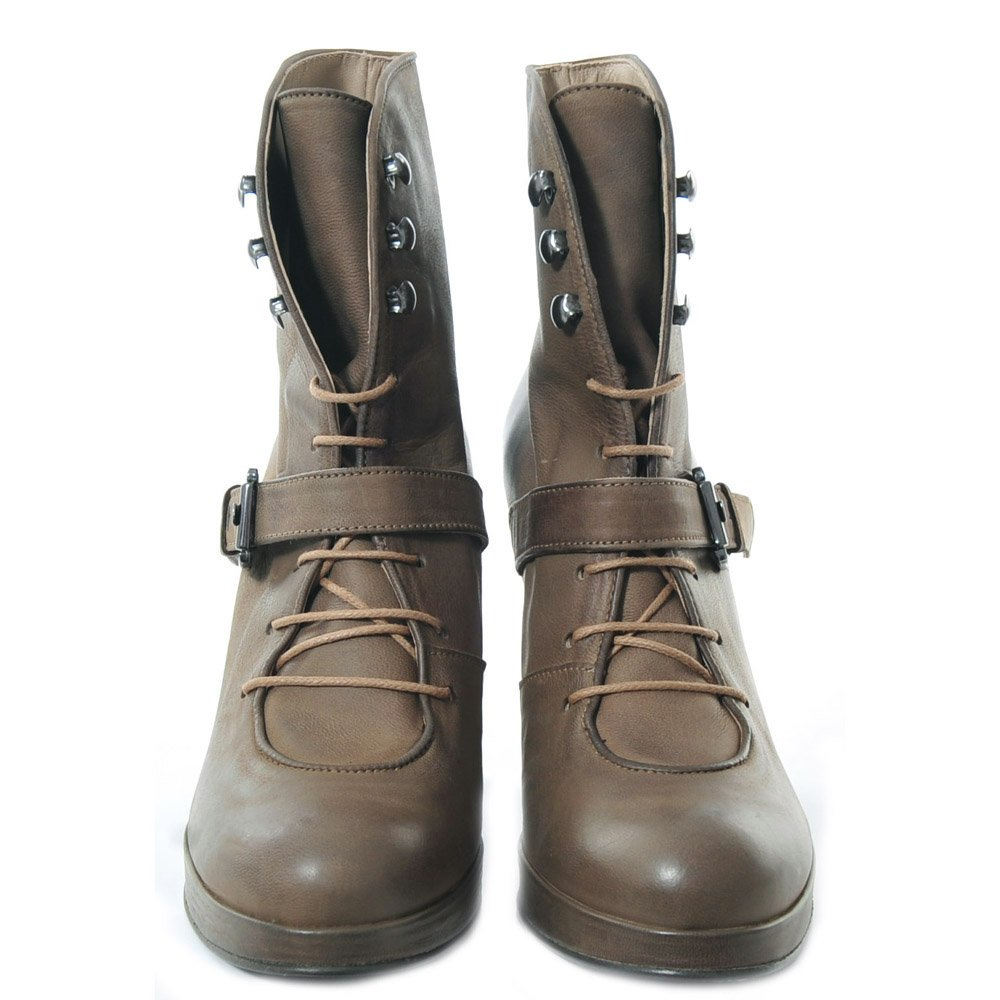 surface to air buckle lace up wedge boot designer shoes