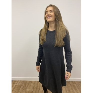 A-line knitted merino wool dress