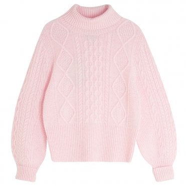 Aran Roll Neck Jumper