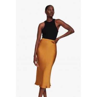 Bar Silk Slip Skirt
