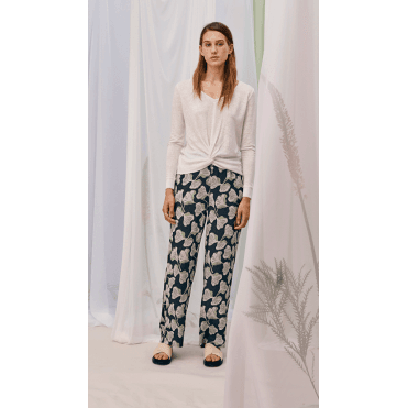 Barbro Trousers - Abstract Petal