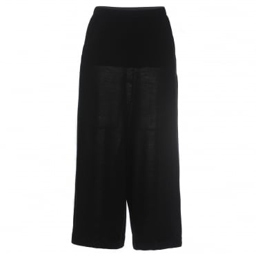 Black Knit Culotte