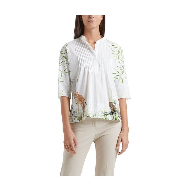 Blouse-style top with pintucks