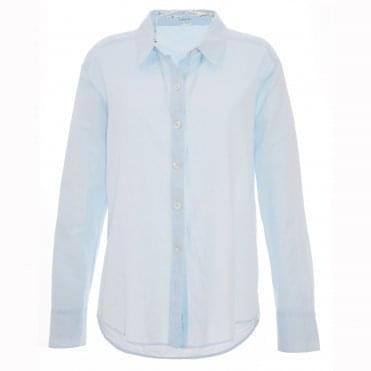 Blue Button Front Shirt