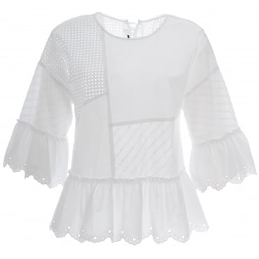 Broderie Anglaise Patch Top