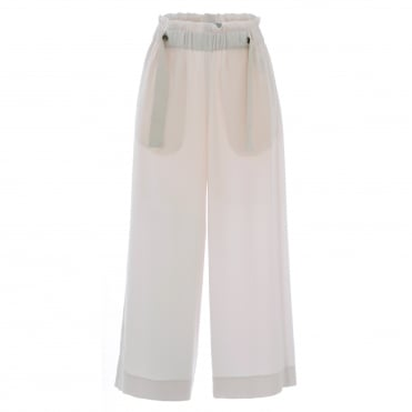Button Wide Culotte