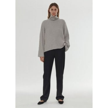 Cannes Rib Roll Neck Jumper