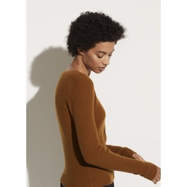 Cashmere Square Neck Cardigan