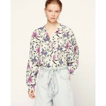 Catchell Floral Button Blouse