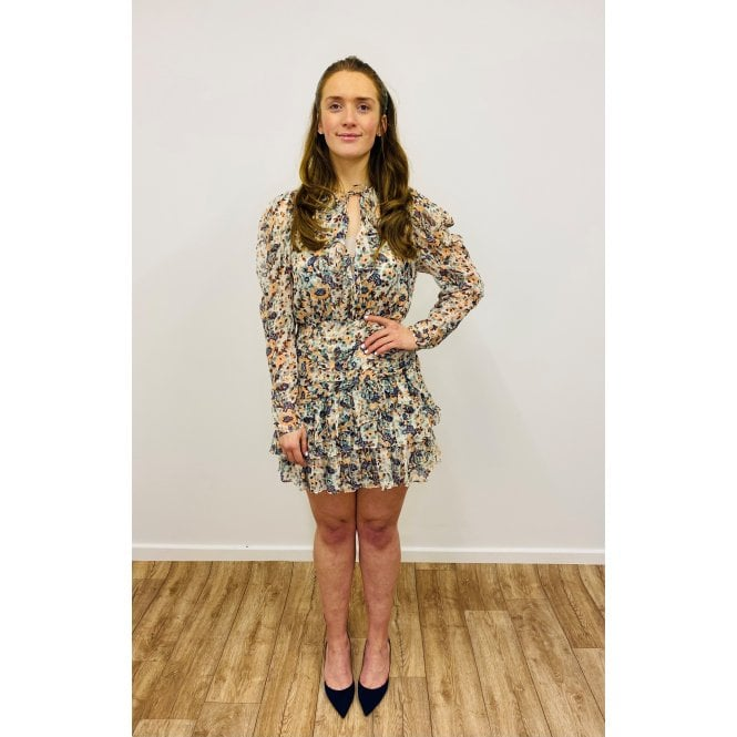Cecily Gilded Floral Dress