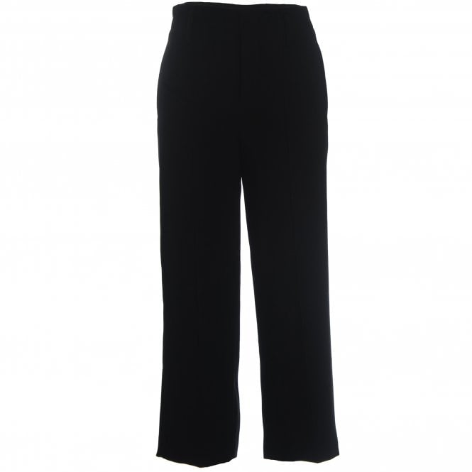 Crop straight leg trousers