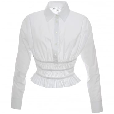 Elasticated White Shirt