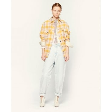 Flaxonli Check Short Jacket