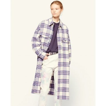 Fontia Check Long Coat