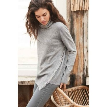 Fringe Cowl Neck Jumper