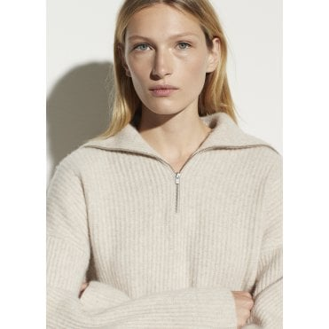 Half Zip Rib Jumper