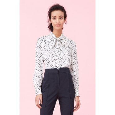 Heart Tie Neck Blouse