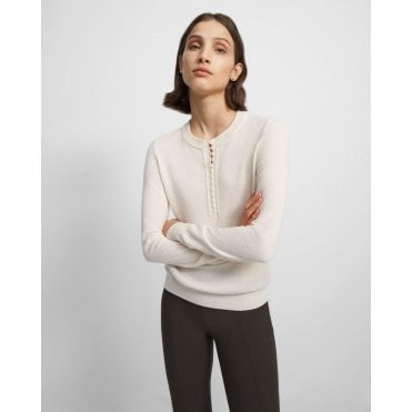 Henley Button Cashmere