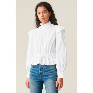 High Neck Cropped Blouse