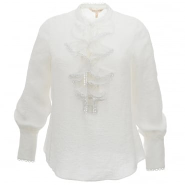 Jacquard Cream Blouse