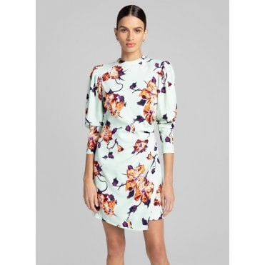 Jane Long Sleeved Floral Mini Dress