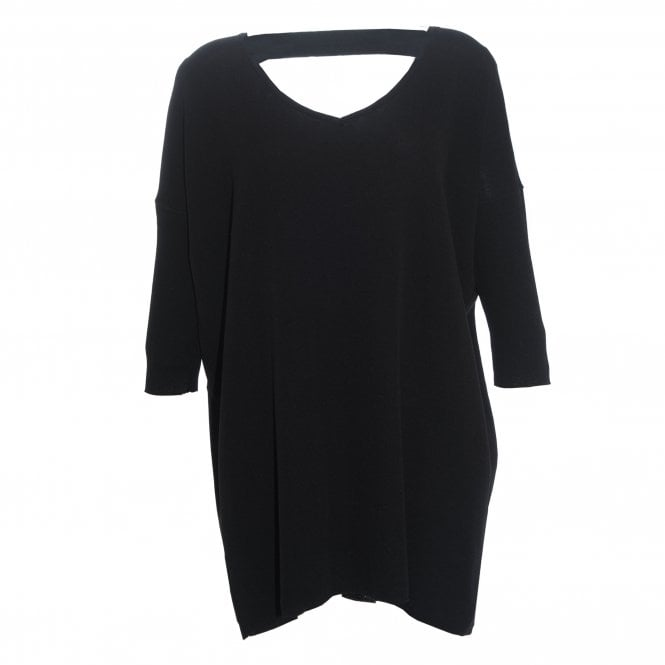 Komos Stripe Black V-Neck Tunic