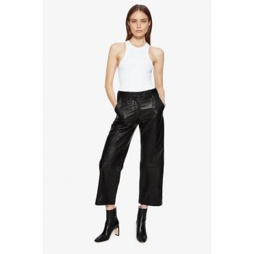 Leah Leather Tapered Trouser