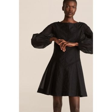 Long Sleeve Cotton Organza Dress