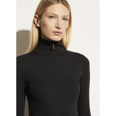 Long Sleeve Half-Zip Turtleneck