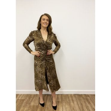 Maisie Leopard waisted dress