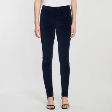 Maria High Rise Skinny In Velvet