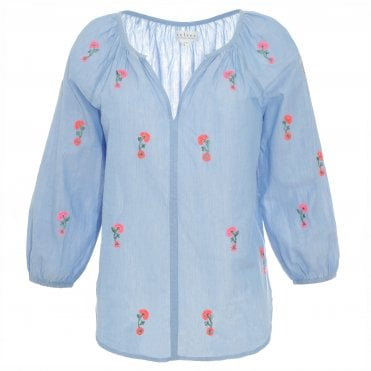 Martha Flower Blouse
