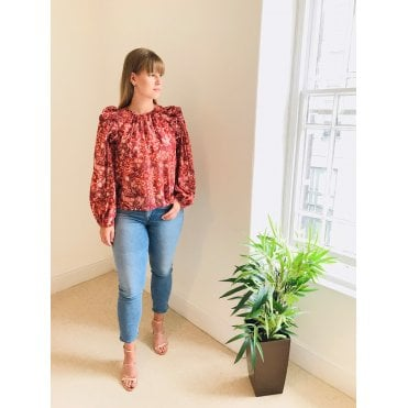 Medine Floral Long Sleeved Top
