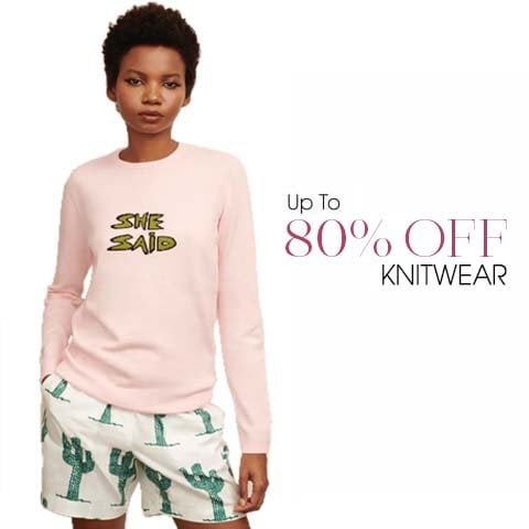 Knitwear Sale up to 80% off