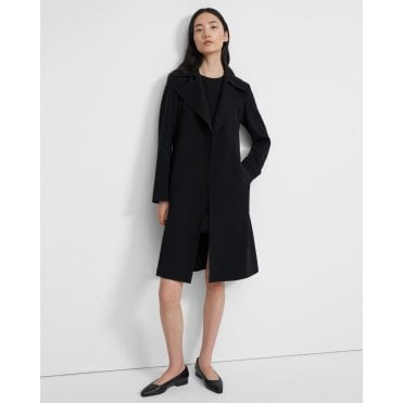 Oaklane Trench Coat in Contrast Crepe