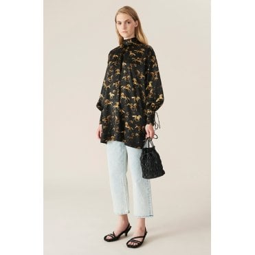 Over Sized Horse Print Tunic