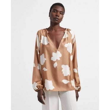 Petal Silk Blouse