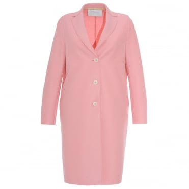 Pink Single Breasted Button Coat