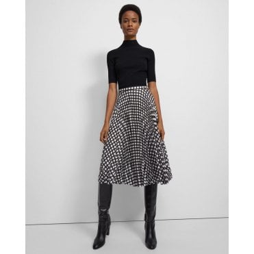 Pleat Print Skirt