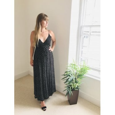 Polka Wrap Cami Dress