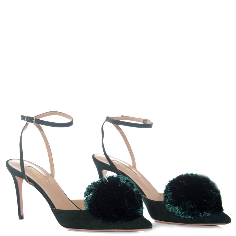 bcf839496 Aquazzura Powder Puff Green Suede heels,From MorganClare,shop designer