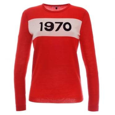 Red 1970 Sweater
