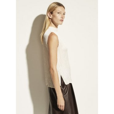 Rib Mock Neck Shell Ivory