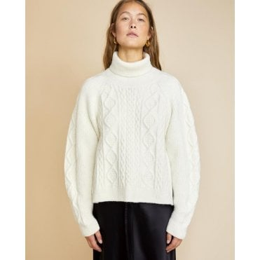 River Funnel Neck Knit
